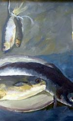 Dr. Gayle Jensen, Still life with fish