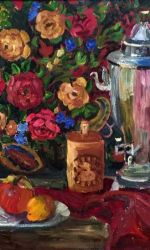 Susan Butler, Still life with Russian shawl